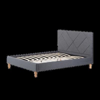 Evan Queen Headboard Bed - Granite - Image 2