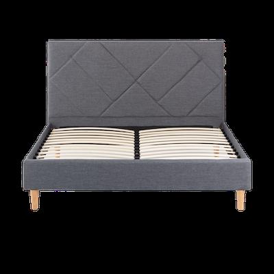 Evan Queen Headboard Bed - Granite - Image 1