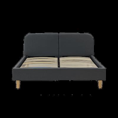Nolan Queen Headboard Bed - Carbon - Image 2