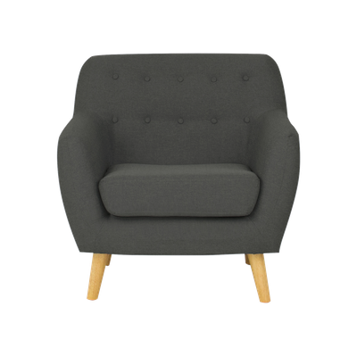 Emma 1 Seater Sofa - Charcoal - Image 1