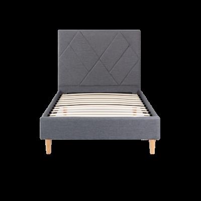 Evan Super Single Headboard Bed - Granite - Image 1