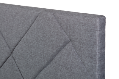 Evan Super Single Headboard Bed - Granite - Image 2