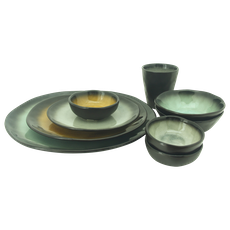Lilac Large Bowl - Green (Set of 4) - Image 2