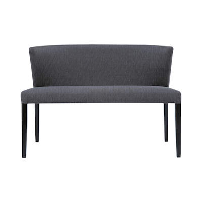 Rhoda Bench - Black, Mud - Image 1