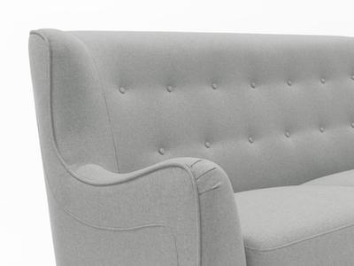 Jacob 3 Seater Sofa - Silver - Image 2