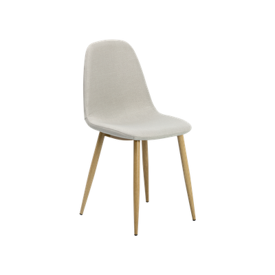 Fynn Dining Chair - Brushed Walnut, Silver (Set of 4) - Image 1