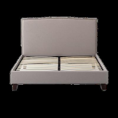Stanley Queen Headboard Bed - Khaki - Image 1