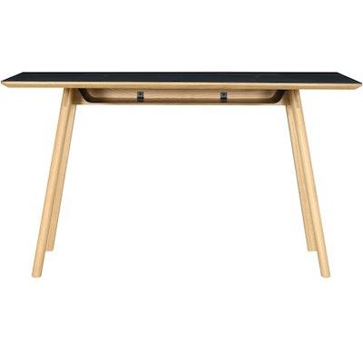 Tyrus Working Desk - Oak, Black - Image 1
