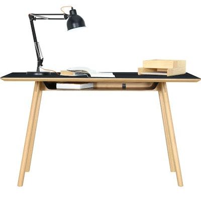 Tyrus Working Desk - Oak, Black - Image 2