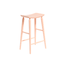 Lester Bar Stool - Nude Pink Lacquered - Image 1