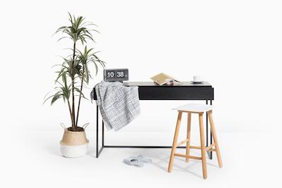 Miles Study Table - Black Ash, Matt Black - Image 2
