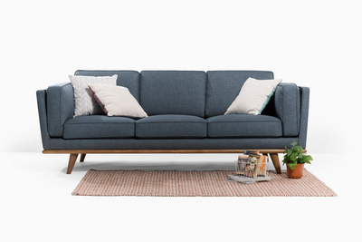 Carter 3 Seater Sofa - Space Blue - Image 2