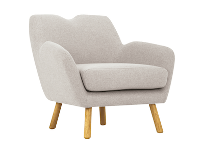 Joanna Lounge Chair - Pale Silver - Image 1