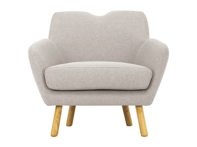 Joanna Lounge Chair - Pale Silver - Image 2