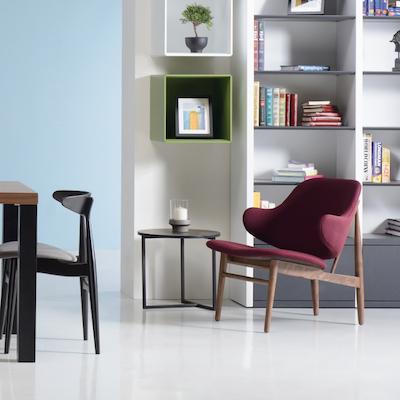 Chloe Lounge Chair - Russet, Oak - Image 2