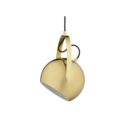 Slug Pendant Lamp w/ handle - Brass - Image 2