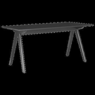Aden Dining Table 1.6m - Black, Black Laminate - Image 2