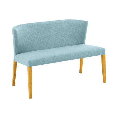 Rhoda Bench - Natural, Aquamarine - Image 2