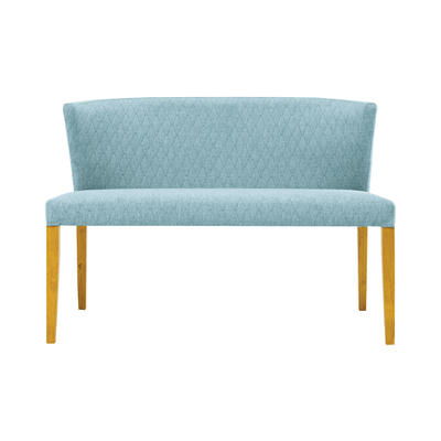Rhoda Bench - Natural, Aquamarine - Image 1