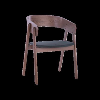Venice Dining Chair - Walnut, Dark Grey (Set of 2) - Image 1