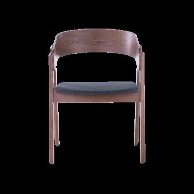 Venice Dining Chair - Walnut, Dark Grey (Set of 2) - Image 2