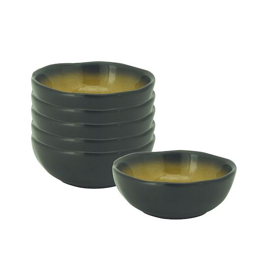 Helga - Lilac Small Dip Bowl - Orange (Set of 6)