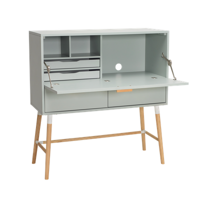 Araud Working Desk - White Grey - Image 1