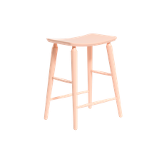 Lester Counter Stool - Nude Pink Lacquered - Image 1