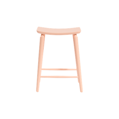 Lester Counter Stool - Nude Pink Lacquered - Image 2
