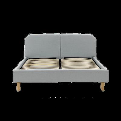 Nolan Queen Headboard Bed - Silver - Image 2