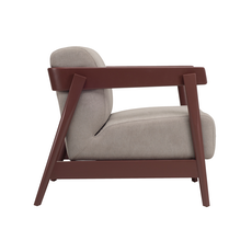 Daewood Lounge Chair - Penny Brown, Light Grey - Image 2