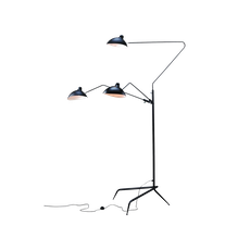Mantis 3-Arm Floor Lamp - Matte Black - Image 1