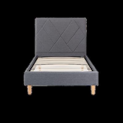 Evan Single Headboard Bed - Granite - Image 1