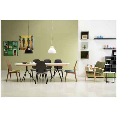 Miranda Dining Chair - Walnut, Jade (Set of 2) - Image 2