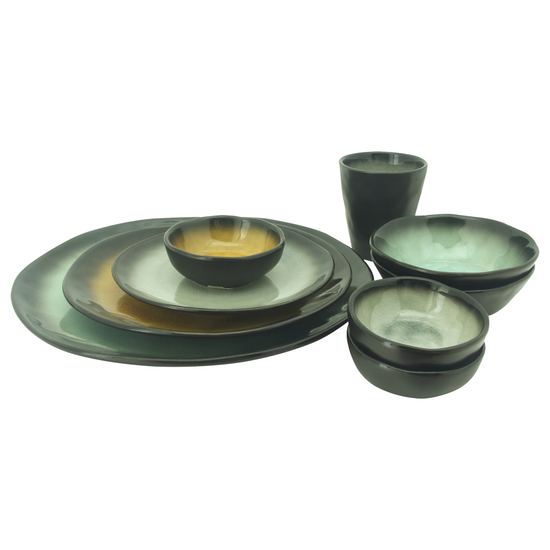 Helga - Lilac Small Dip Bowl - Green (Set of 6)
