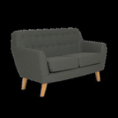 Emma 2 Seater Sofa - Charcoal - Image 2
