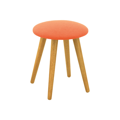 Poppy Stool - Natural, Tangerine - Image 1