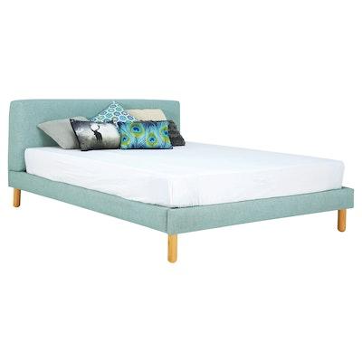 Zeus Queen Bed - Sea Green - Image 1