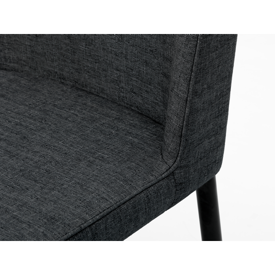 Stockholm - (Set of 2) Jake Dining Chair - Black, Carbon