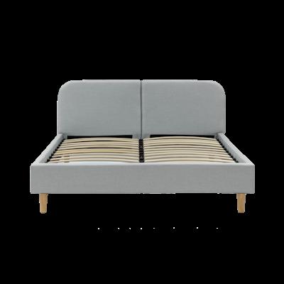Nolan King Headboard Bed - Silver - Image 2