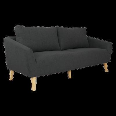 Hana 3 Seater Sofa - Charcoal - Image 2
