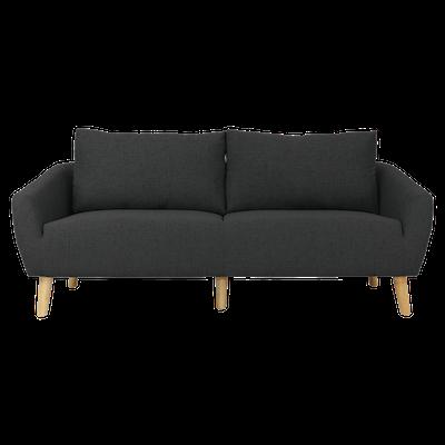 Hana 3 Seater Sofa - Charcoal - Image 1
