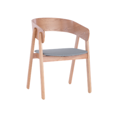 Venice Dining Chair - Oak, Light Grey (Set of 2) - Image 1