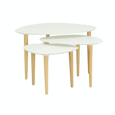Corey Occasional Table - White (Set of 3) - Image 1