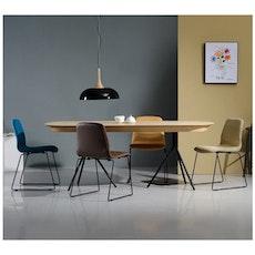 Otis Fix Top 8 Seater Table - White Lacquered, Matt Black - Image 2
