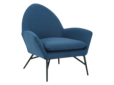 Esther Lounge Chair - Midnight Blue - Image 1
