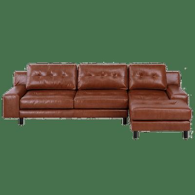 Wyatt L Shape Sofa - Cigar (Premium Leather) - Image 2