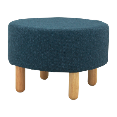 Millie Stool - Natural, Midnight Blue - Image 1