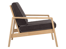 Latio Lounge Chair - Natural, Seal - Image 2