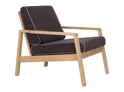 Latio Lounge Chair - Natural, Seal - Image 1